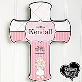 Personalized First Communion Wall Cross - Precious Moments - 12694