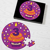 Kids Personalized Birthday Puzzles - Birthday Cupcake - 12702