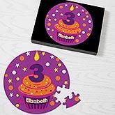 Kids Personalized Birthday Puzzles - Birthday Cupcake - 12702