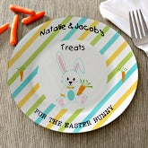 Personalized Easter Plate - Treats For The Easter Bunny - 12711