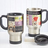 Personalized Photo Collage Travel Mugs - Favorite Faces - 12743