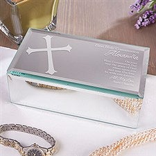 Personalized Mirrored Keepsake Box - First Communion Blessing - 12753