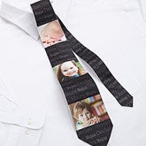 personalized photo collage neck tie for dad