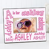 personalized alphabet photo frame