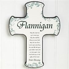 Personalized Irish Wall Cross - Traditional Irish Blessing - 12794