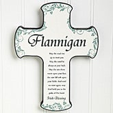 Traditional Irish Blessing Personalized Cross