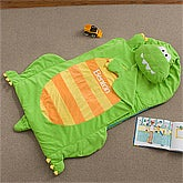 Personalized Kids Sleeping Bag Nap Mat - Dinosaur - 12798