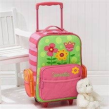 385366b7b70 Personalized Kids Suitcases - Flowers Rolling Luggage for Girls - 12799