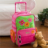 Personalized Kids Suitcases - Flowers Rolling Luggage for Girls - 12799
