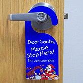 Santa Stop Here Door Knob Hanger Christmas Gifts Gifts For Kids