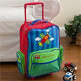 Personalized Kids Suitcases - Airplae Rolling Luggage for Boys - 12800