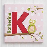 Personalized Kids Canvas Name Art - Owl About You - 12816
