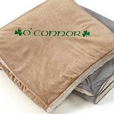 Personalized Irish Pride St Patrick's Day Sherpa Fleece Blanket - 12817