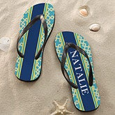 Personalized Flip Flop Sandals - Nautical Link - 12825