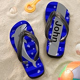 Personalized Kids Flip Flop Sandals - Shark - 12826