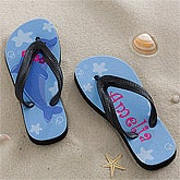 Personalized Kids Flip Flop Sandals - Dolphin - 12827