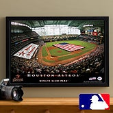 Personalized Houston Astros MLB Baseball Stadium Canvas Print - 12830