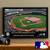Personalized Oakland A's MLB Baseball Stadium Canvas Print - 12832