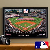 Personalized Atlanta Braves MLB Baseball Stadium Canvas Print - 12833