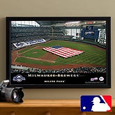 Personalized Milwaukee Brewers MLB Baseball Stadium Canvas Print - 12834