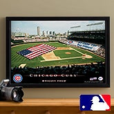 Personalized Chicago Cubs MLB Baseball Stadium Canvas Print - 12838
