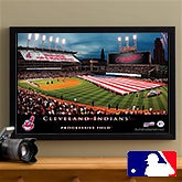 Personalized Cleveland Indians MLB Baseball Stadium Canvas Print - 12842