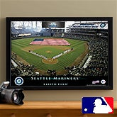 Personalized Seattle Mariners MLB Baseball Stadium Canvas Print - 12843