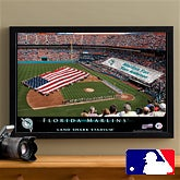 Personalized Florida Marlins MLB Baseball Stadium Canvas Print - 12844