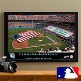 Personalized Florida Marlins MLB Baseball Stadium Canvas Print - 12844