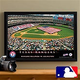 Personalized Texas Rangers MLB Baseball Stadium Canvas Print - 12851