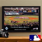 Personalized Tampa Bay Rays MLB Baseball Stadium Canvas Print - 12852