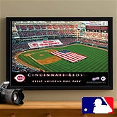 Personalized Cincinnati Reds MLB Baseball Stadium Canvas Print - 12854
