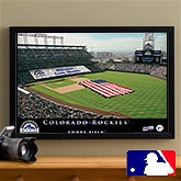 Personalized Colorado Rockies MLB Baseball Stadium Canvas Print - 12855