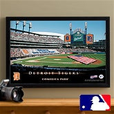 Personalized Detroit Tigers MLB Baseball Stadium Canvas Print - 12857