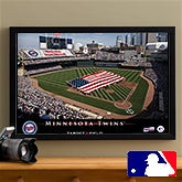 Personalized Minnesota Twins MLB Baseball Stadium Canvas Print - 12858