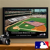 Personalized Chicago White Sox MLB Stadium Canvas Print - 12859
