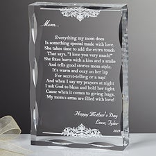 Personalized Keepsake Gifts for Mothers - Dear Mom Poem - 12869
