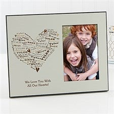 Personalized Picture Frames - Her Heart of Love - 12876