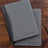 Business Professional Personalized Portfolios - Grey & Black - 12877