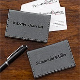 Personalized Business Card Cases - Grey - 12879
