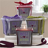 Personalized Best Mom Ever Candles - Lavender & Linen
