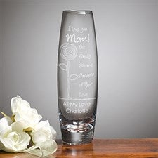 Personalized Bud Vases - Flower Blooms For Her - 12889