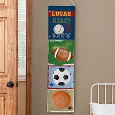 Personalized Boys Growth Chart - Sports - 12891
