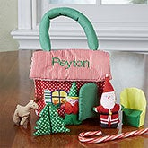 Personalized Kids Plush Playset - Santa's Workshop - 12894
