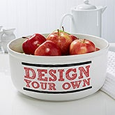 Design Your Own Personalized Serving Bowl - 12898