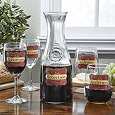 Personalized Wine Glasses and Carafe Set - Wine Please - 12923D
