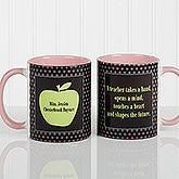 Personalized Teacher Coffee Mugs - Green Apple - 12925