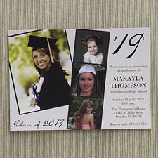 Personalized Photo Graduation Party Invitations - Refined Graduate - 12947