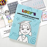 Personalized Kids Graduation Coloring Book - Kindergarten or Preschool - 12952