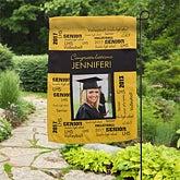 Personalized Graduation Photo Garden Flag - School Spirit - 12960
